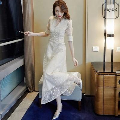 韓国ファッション2021夏 ワンピース 結婚式 女子会 発表会 二次会  ドレス お呼ばれ パーティー セレブ 女優 同窓会 お茶会 オフィス OL 普段着