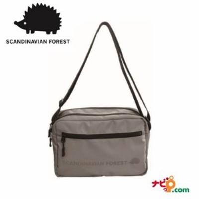 スカンジナビアンフォレスト SCANDINAVIAN FOREST 2ファスナー プリント ショルダー バッグ グレー  235-KESF046-GY ハリネズミ