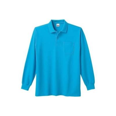 (プリントスター)Printstar 5.8オンス T/C長袖ポロシャツ(ポケット付) 00169-VLP 034 ターコイズ 06 3L
