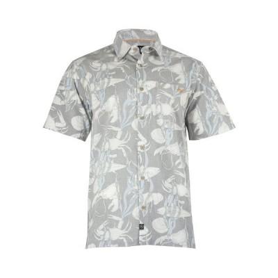 ソルトライフ シャツ トップス メンズ Men's Woven Short Sleeve Shirt Charcoal
