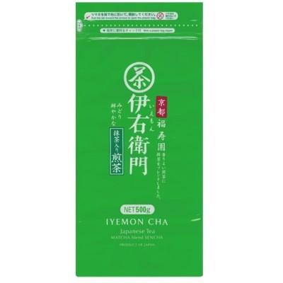 (まとめ)宇治の露製茶 伊右衛門 徳用抹茶入り煎茶500g 1袋〔×2セット〕