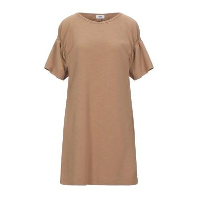 KATE BY LALTRAMODA ミニワンピース&ドレス キャメル I ポリエステル 97% / ポリウレタン 3% ミニワンピース&ドレス