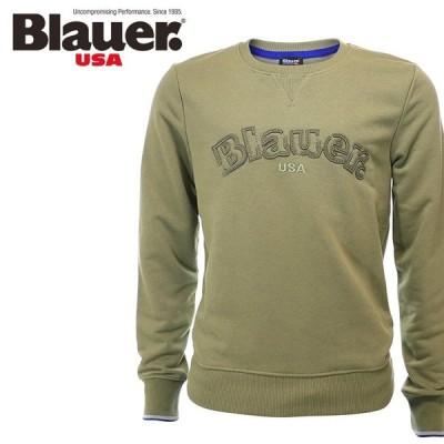 ブラウアー Blauer スウェットトレーナー メンズ ステッチロゴ ラウンドネック 長袖 3055-4544