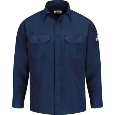 ブラウァーク シャツ トップス メンズ Bulwark Men's Nomex IIIA Long Sleeve Work Shirt Navy
