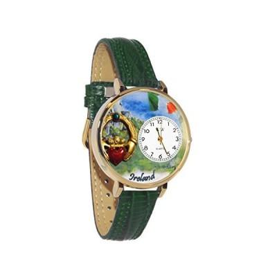 腕時計 気まぐれなかわいい プレゼント WG-G-1420004 Ireland Hunter Green Leather and Goldtone W