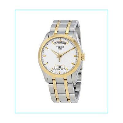 ティソt-trend Couturierホワイトダイヤルツートンカラーメンズ時計t0354072201100