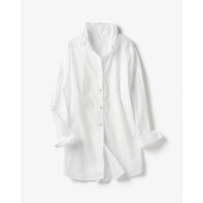 ドゥクラッセ DoCLASSE ピュアコットン・ベーシックシャツ (ホワイト)