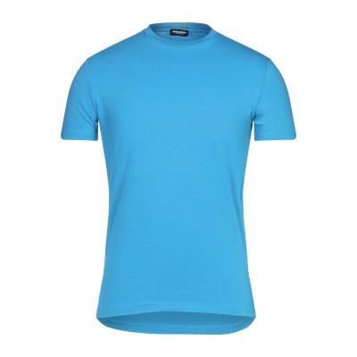 ディースクエアード DSQUARED2 アンダーTシャツ ブルー M コットン 95% / ポリウレタン 5% アンダーTシャツ
