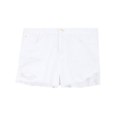 MY TWIN TWINSET デニムショートパンツ ホワイト 31 コットン 100% デニムショートパンツ