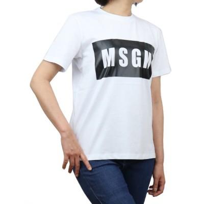 エムエスジーエム MSGM レディース−Tシャツ 3041MDM95 217298 01 ホワイト系 bos-44 ts-01