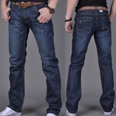 送料無料大きサイズ デニムパンツ ジーパン ジーンズ メンズ デニム ストレートパンツ ロングパンツ デニム ボトムス ジーパン ストレート デニム