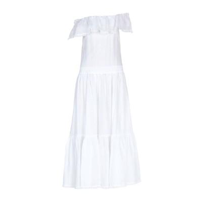KI6? WHO ARE YOU? ロングワンピース&ドレス ホワイト 44 ラミー 100% ロングワンピース&ドレス