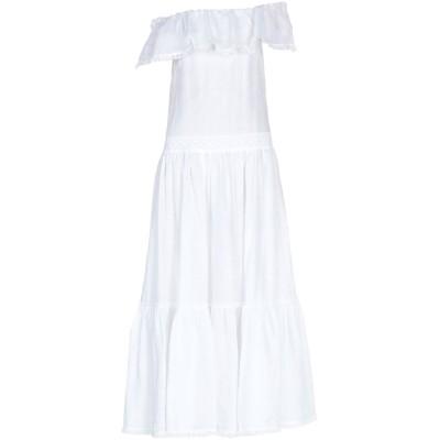 KI6? WHO ARE YOU? ロングワンピース&ドレス ホワイト 40 ラミー 100% ロングワンピース&ドレス