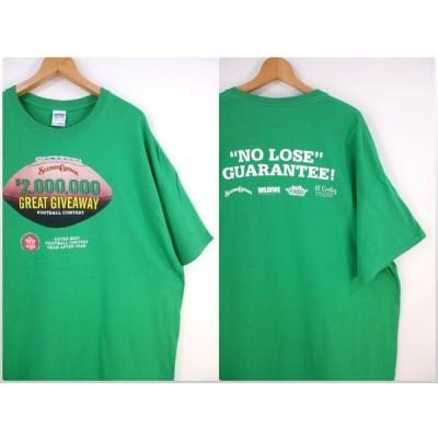 古着 大きいサイズ ギルダン GILDAN 半袖プリントTシャツ メンズUS-3XLサイズ STATION CASINOS FOOTBALL CONTEST クルーネック グリーン t-1502