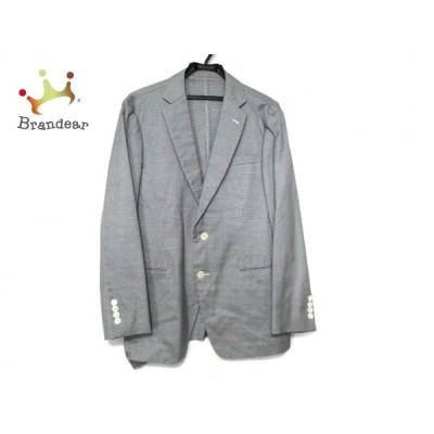 トゥモローランド ジャケット サイズ48 XL メンズ - ダークネイビー×アイボリー 長袖/春/秋 新着 20201122