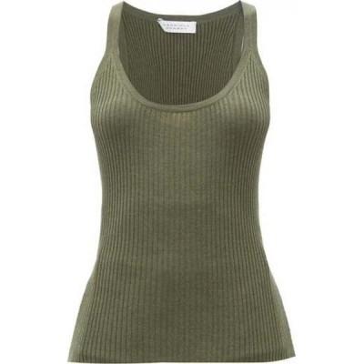 ガブリエラ ハースト Gabriela Hearst レディース タンクトップ トップス Daniel Avalon cashmere-blend tank top Olive green