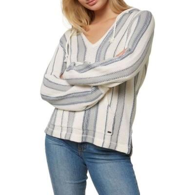 オニール O'Neill レディース パーカー トップス Campfire Hooded Sweater Mirage Blue
