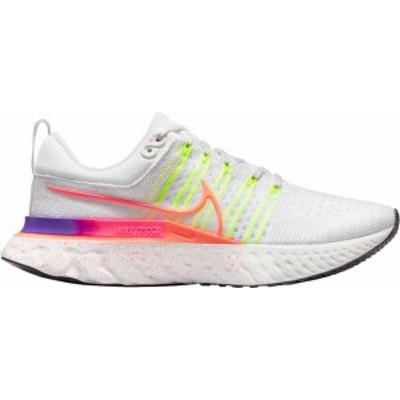 ナイキ レディース スニーカー シューズ Nike Women's React Infinity Run Flyknit 2 Running Shoes Volt/White
