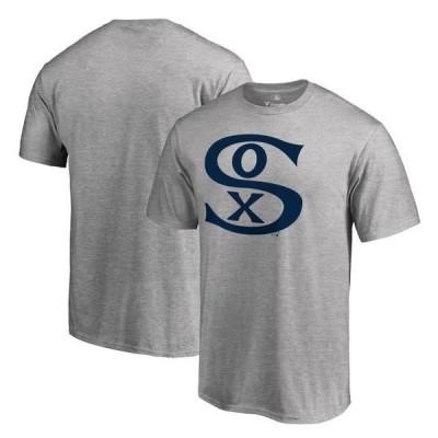 ユニセックス スポーツリーグ メジャーリーグ Chicago White Sox Fanatics Branded Cooperstown Collection Forbes T-Shirt - Ash
