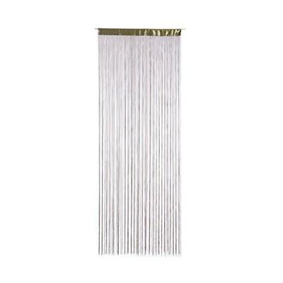 aura カット できる ストリング カーテン 幅 90 cm×H 240 cm グリーン