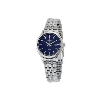 セイコー 腕時計 Seiko ブルー ダイヤル ステンレス スチール Quatrz レディース 腕時計 SUR797