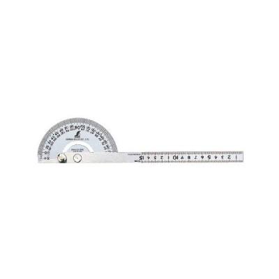 シンワ測定 プロトラクター シルバー 62868 #101 φ120 竿目盛15cm溝付固定ネジ 角度の測定やケガキ、長さ測定に