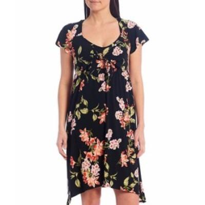 トッミーバハマ レディース ワンピース トップス Petal Of Honor Cap Sleeve Dress Black