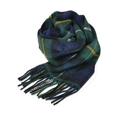 英国王室ご愛用 Lochcarron of scotland ロキャロン ラムズウール100% タータンチェックマフラー (キャンベルオブア?
