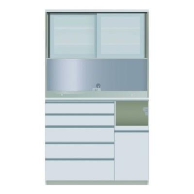 食器棚 引き戸 ガラス 幅120 奥行45 高さ203 キッチン収納 キッチンボード レンジ台 日本製 パモウナ ダイニングボード JQR-S 1200 R W 右家電収納 (配送員設置)