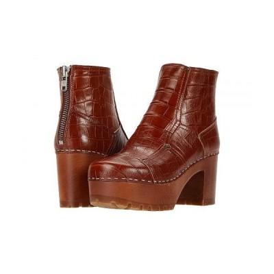 Swedish Hasbeens スウェディッシュハズビーンズ レディース 女性用 シューズ 靴 ブーツ アンクル ショートブーツ Mikaela - Cognac Croc/Cognac