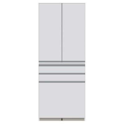 家具 収納 キッチン収納 食器棚 キッチンストッカー 食品ストッカー 家電が使いやすいハイカウンター奥行45cm 食器棚高さ203cm幅80cm/パモウナDQ-S800K 549215