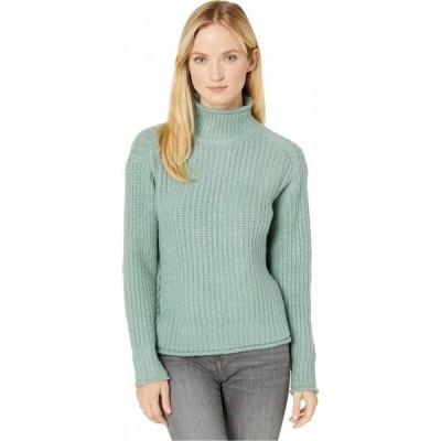 ヴィンス カムート Vince Camuto レディース ニット・セーター トップス Long Sleeve Texture Stitch Mock Neck Sweater Eucalyptus