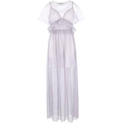 BACKGROUND ロングワンピース&ドレス グレー S 紡績繊維 / コットン ロングワンピース&ドレス