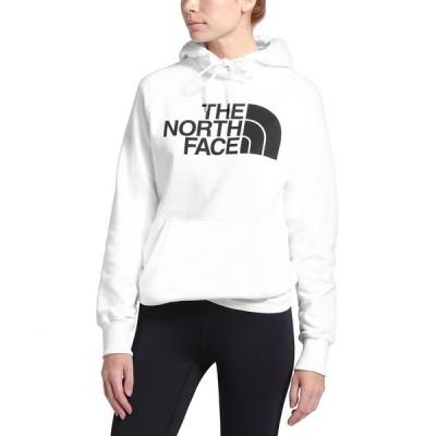 ノースフェイス カットソー トップス レディース Women's Half Dome Logo Hoodie Tnf White