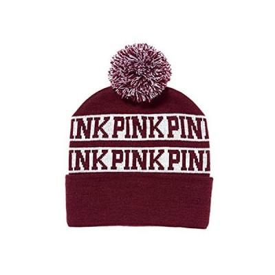 Victoria's Secret Pink Knit Beanie Maroon 好評販売中