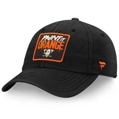 ユニセックス スポーツリーグ ホッケー Anaheim Ducks Fanatics Branded Hometown Adjustable Hat - Black - OSFA 帽子