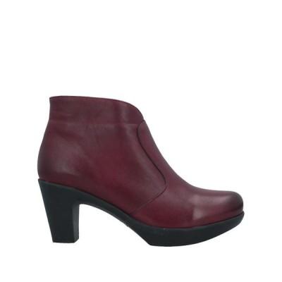VITAMIA ショートブーツ ファッション  レディースファッション  レディースシューズ  ブーツ  その他ブーツ ボルドー