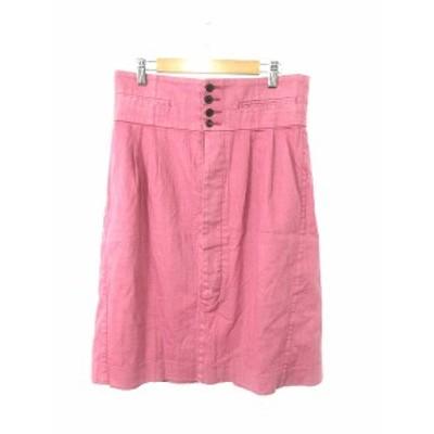 【中古】ズッカ zucca スカート 台形 ロング ミモレ ジップフライ L ピンク /Y2I9 レディース