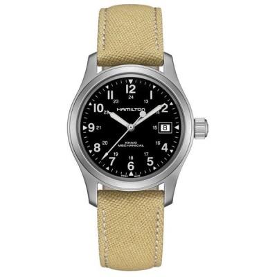 ハミルトン レディース 腕時計 アクセサリー Unisex Swiss Mechanical Khaki Field Khaki Canvas Strap Watch 38mm