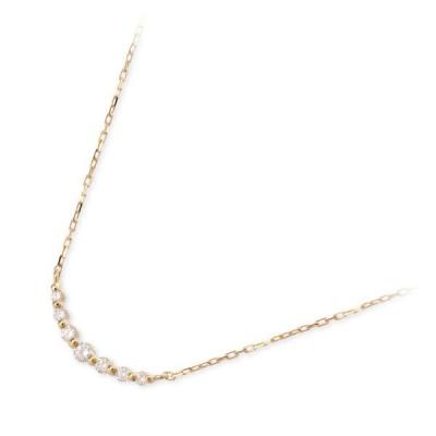 ゴールド ネックレス ダイヤモンド 彼女 誕生日プレゼント 記念日 ギフトラッピング ヴイエーヴァンドームアオヤマ レディース