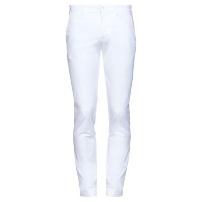 LUCA BERTELLI パンツ ホワイト 50 コットン 97% / ポリウレタン 3% パンツ