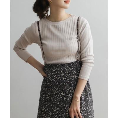URBAN RESEARCH DOORS / 針抜き長袖カットソー WOMEN トップス > Tシャツ/カットソー