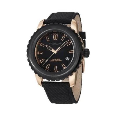 ストゥーリング オリジナル 3266 02 ベクター スイス クォーツ デート ローズ-トーン/ブラック メンズ 腕時計