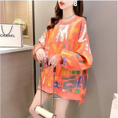 秋冬新作 ファッション 人気トップス グレー オレンジ アンズ3色展開
