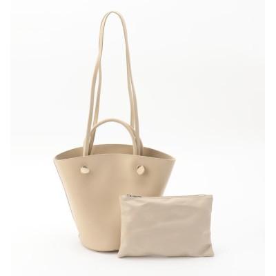 【ミューズ リファインド クローズ/MEW'S REFINED CLOTHES】 フェイクレザーバスケットバッグ