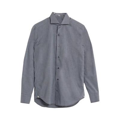GRIGIO シャツ ブルーグレー 39 コットン 100% シャツ