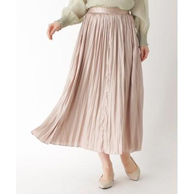 ITS' DEMO(イッツデモ) レザーライクプリーツロングスカート