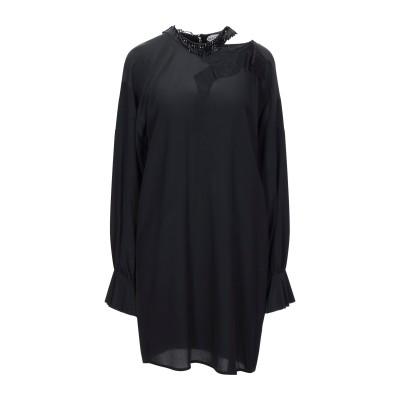 GIACOBINO ミニワンピース&ドレス ブラック 40 シルク 100% / レーヨン / ナイロン ミニワンピース&ドレス