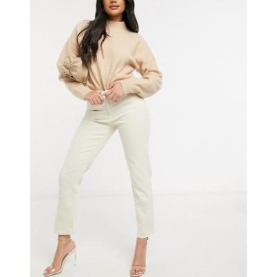 ヴィラ レディース デニムパンツ ボトムス Vila mom jeans in beige