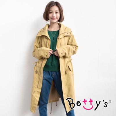 betty's貝蒂思 率性百搭連帽風衣(芥末黃)